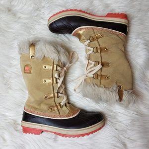 Sorel Youth Tofino Tan Gold Winter Boots